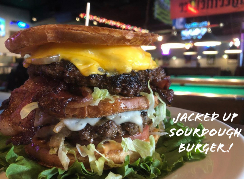 Jacked Up Sourdough Burger