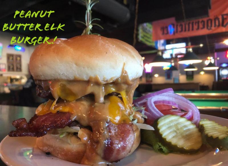 Peanut Butter Elk Burger