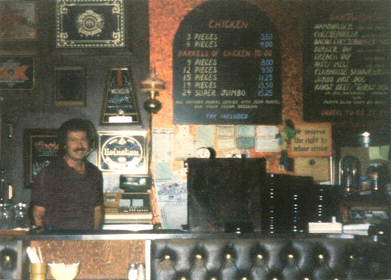 Gus Routos inside the original Doofers around 1985