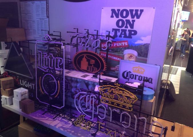 Raffle prizes beer signs
