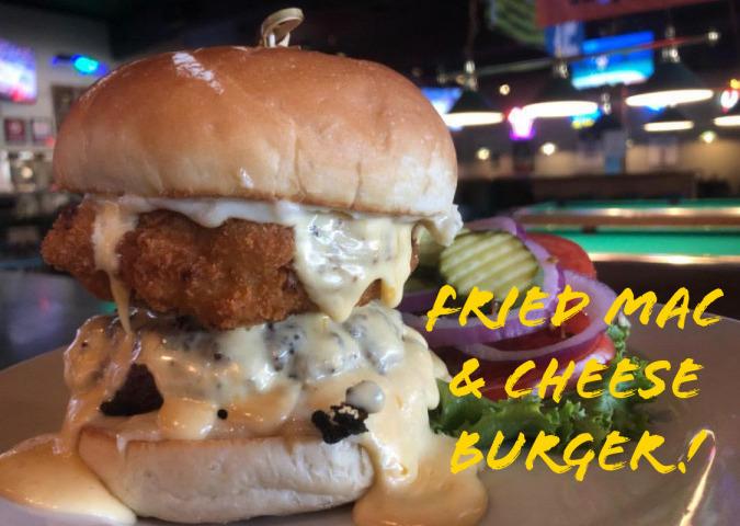 Fried Mac & Cheese Burger