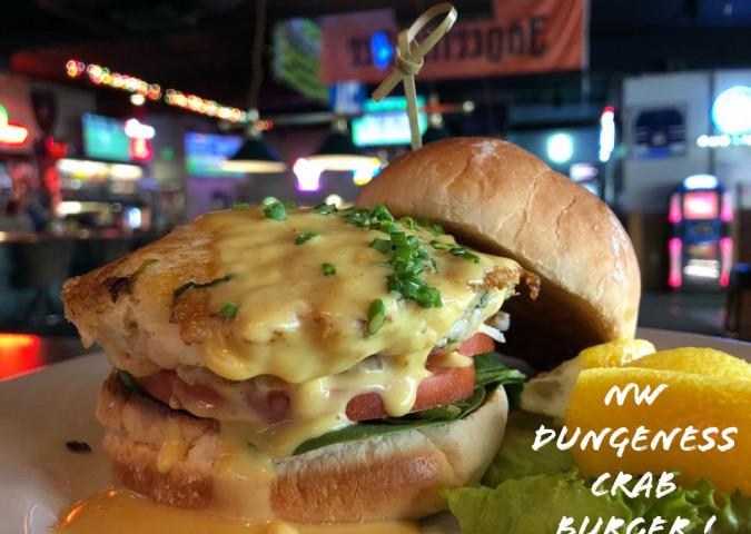 NW Dungeness Crab Burger